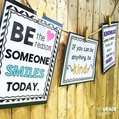 """Create your own """"Kindness Bulletin Board"""" and encourage kindness and random acts of kindness in your classroom with these posters and activities. Click to see all the posters included."""
