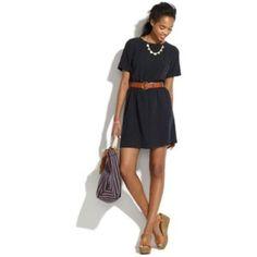 Madewell Black Scenic View Dress Xs