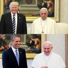 Not hard to figure out how the Pope feels about these guys.