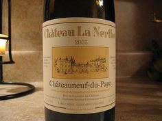 2003 Chateauneuf-du-Pape...best red ever.