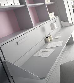 Camas abatibles con escritorio a la vez. #escritorio #camas #abatibles @mueblesjjp