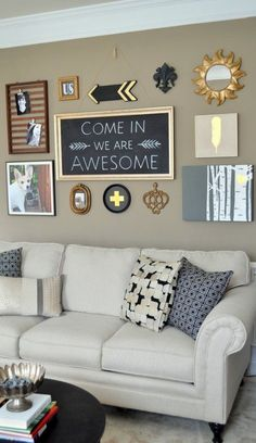 DIY wall art & gallery wall makeover. Make wall art from items you already…