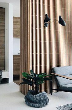 Interior architecture design - New Sites Wood Slat Wall, Wood Slats, Wooden Walls, Wood Paneling, Timber Panelling, Wood Panel Walls, Interior Walls, Interior And Exterior, Wooden Wall Design