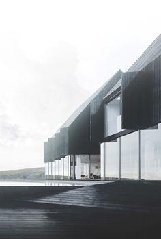 Icelandic coastal house on Behance