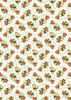Christmas Roses Backing Paper