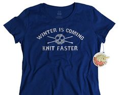 Christmas Gift for Her Knitting T Shirt for Women - Funny Gifts for Knitters