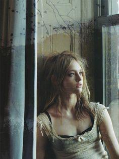 """One month only"". Sasha Pivovarova by Steven Meisel for Vogue Italia January 2006"