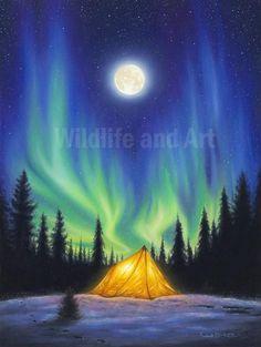 Greeting card - Northern Lights