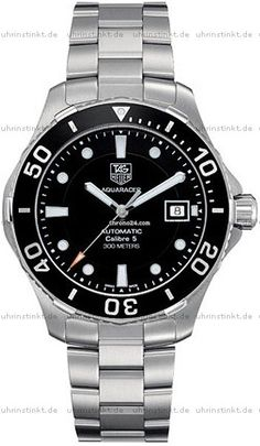 TAG Heuer Tag Heuer Aquaracer Automatic $1,873 #TAGHeuer #watch #watches #chronograph steel case steel bracelet automatic movement waterproof up to 300m/1000ft