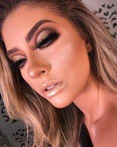 Cute Makeup Looks, Glam Makeup Look, Makeup Eye Looks, Beautiful Eye Makeup, Glamorous Makeup, Body Makeup, Contour Makeup, Pretty Makeup, Hair Makeup