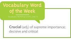 Use my vocabulary Word of the Week to ensure vocabulary instruction occurs daily in your classroom!