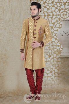 http://www.mangaldeep.co.in/latest-men-wear/wedding-wear-golden-jute-men's-indowestern-sherwani-8235 For more information :- Call us @ +919377222211 (Whatsapp Available) (y) :)