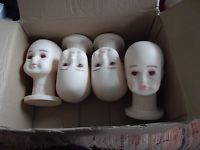 MANNEQUIN/DISPLAY HEADS/CHILD-BABY SIZE/SET OF FOUR/SEE INFO FOR DETAILS