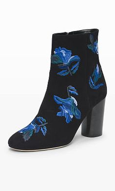 Women | Anisa Embroidered Bootie | Club Monaco