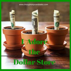 I Adore the Dollar Store: Be sure to check the dollar store before you head to Walmart or Target; if it's available at the dollar store, the price is almost always less!