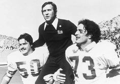 Majors carried off after Pitt won the Sun Bowl over Kansas in 1975. Photo from Pittsburgh Sports Report.