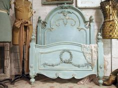 Painted Cottage Aqua Chic Romance Bed BD157 on Etsy, € 820,59