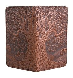 Oberon Design Tree of Life Embossed Genuine Leather Checkbook Cover   3.5x6.5 Inches   Saddle:   No more ugly plastic checkbook covers. Your new Oberon Design tooled leather checkbook case turns writing checks and paying bills into a beautiful experience instead of a chore./b/p It doesn't matter if you're putting a down payment on your dream house or just paying the water bill, writing a check should not feel like drudgery. Yet if you're still using that thin green checkbook cover you ...