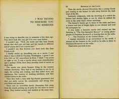 'I was trying to describe you to someone' - story by richard brautigan from revenge of the lawn.