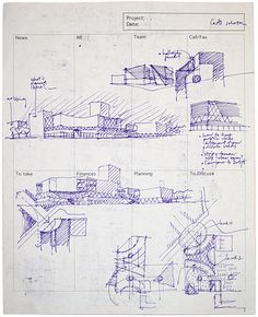 Drawings by Architects Croquis. Gesture: Hand Drawings by ArchitectsCroquis. Gesture: Hand Drawings by Architects Architect Sketchbook, Architect Drawing, Architect Design, Croquis Architecture, Architecture Portfolio, Concept Architecture, House Architecture, Plan Sketch, Sketch Design