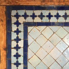 CasaHassan in Chefchaouen has the best tables - traditional Moroccan tile work.