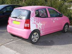 Hello Kitty Car Photo by styeb My Dream Car, Dream Cars, Hello Kitty Car, Bike Trailer, Crazy Girls, Car Photos, Van, Car Car, Black
