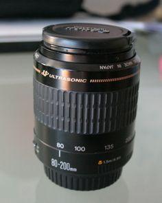 Objectif pour appareil photo Canon. Télézoom. Etat quasi-neuf, très peu servi. Je ne l'utilise plus. Location Objectif CANON EF 80-200mm f/4.5-5.6 Ultrasonic Annecy-le-Vieux (74940)