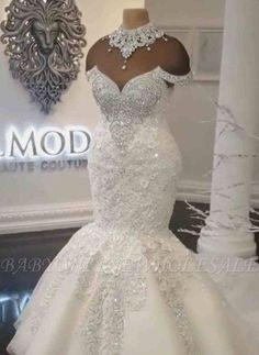 Boho-Chic A-Line Wedding Dress with Halter Neckline · Mermaid Wedding Dress in Lace. Mermaid Wedding Dress in Lace. Western Wedding Dresses, Sexy Wedding Dresses, Princess Wedding Dresses, Bridal Dresses, Wedding Gowns, Tulle Wedding, Prom Dresses, Crystal Wedding Dresses, Ribbon Wedding