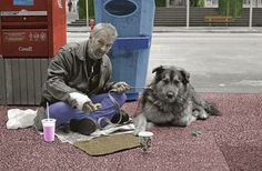 homeless people and dogs - Who helps these people with their dogs? Never have I seen a more dedicated pet owner than a homeless person with a pet Homeless Dogs, Homeless People, Helping The Homeless, Homeless Resources, Evil People, Real Friends, All Dogs, Mans Best Friend, Beautiful Creatures