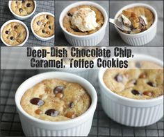 Deep -Dish Chocolate Chip, Caramel, Toffee Cookies