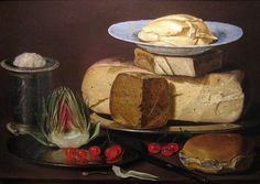The Athenaeum - Still Life with Cheeses, Artichoke and Cherries (Clara Peeters - )