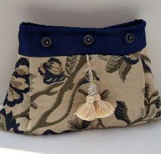 Clutch Bag , Peacock Blue Clutch, Floral Print Handbag , Evening Purse   ClassA - Bags & Purses on ArtFire