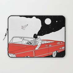Follow the link to view this product on society6.com! @society6 #society6 #computer #tech #fashion #style #accessory #accessories #products #shop #shopping #buy #sale #gift #gifting #womensfashion #mensfashion #laptop #laptopsleeve #laptoplifestyle #bag #bags #illustration #drawing #design #spaceman #space #nasa #car #retro #white #red #balck