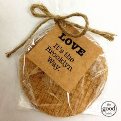 Brooklyn LOVE #stroopwafel #partyfavor #thegoodbatch