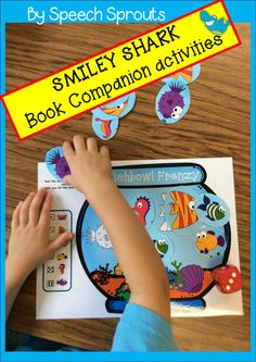 $ Smiley Shark Book Companion. 24 Ocean themed activities for language learning fun! #speechsprouts