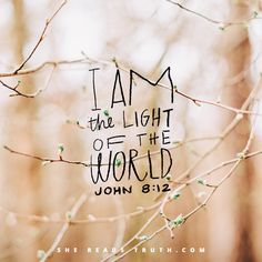 glory to the light of the world.