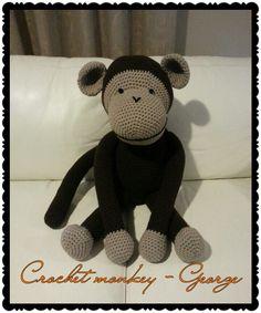 Large crochet monkey George :-)