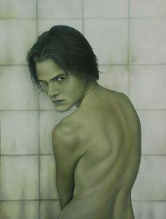 Heather Straka, Oil on Board Contemporary Artwork, Fine Art, Portrait Paintings, Portraits, Image, Oil, Board, Contemporary Art, Head Shots