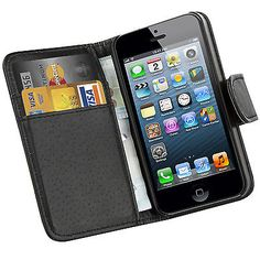 Black #leather #executive #wallet flip case cover card pouch for apple iphone 4 4,  View more on the LINK: 	http://www.zeppy.io/product/gb/2/390546591744/