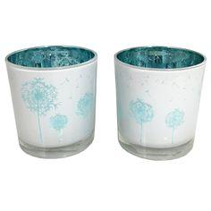 Set of 2 Dandelion Candle Blue