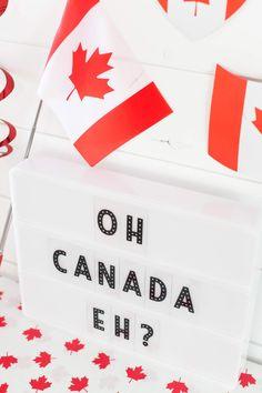 Heidi Swapp Lightbox Canada Day by Lindsay Bateman for Word Board, Letter Board, Hello July, Happy Canada Day, Heidi Swapp, Lightbox, Love Notes, Board Ideas, Diy Home Decor