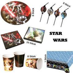 Riethmüller Großes Star Wars Partyset Party Geburtstag Deko 45 Teile: Amazon.de: Spielzeug