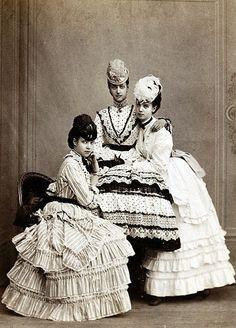 Maria, Alexandra and Thyra of Denmark.
