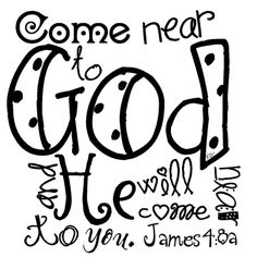 James 4:8a (image from deesbbboutique.blogspot.com)