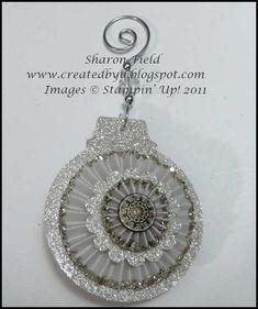 Silver Glimmer Christmas Ornament tutorial by Sharon Field on Createdbyu