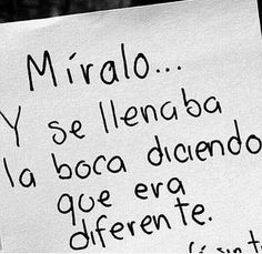 Que era diferente... Sad Love Quotes, Best Quotes, Life Quotes, Quotes En Espanol, Inspirational Phrases, Love Phrases, The Ugly Truth, Sweet Words, Queen Quotes