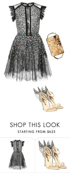 """""""Wedding Guest Outfit"""" by anamariameciu on Polyvore featuring Elie Saab, Sophia Webster and Dolce&Gabbana"""