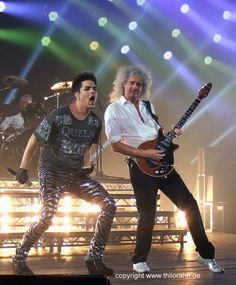 Brian May & Adam Lambert, London show, 14th July 2012 | Source: Thilo Rahn