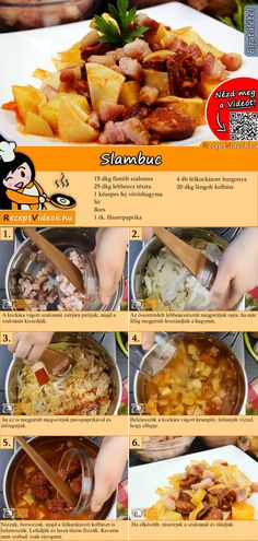 Slambuc recept elkészítése videóval Food N, Good Food, Food And Drink, Yummy Food, How To Cook Beef, How To Cook Fish, Cooking Movies, Hungarian Recipes, Food Hacks