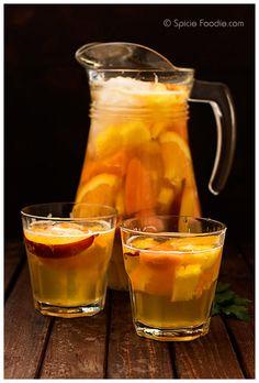 Non-Alcoholic Fruit Sangria for the whole family. via  SpicieFoodie.com @SpicieFoodie